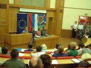 Станислав Гроф на пресс-конференции (Российская Академия Государственной службы при Президенте РФ,2001)