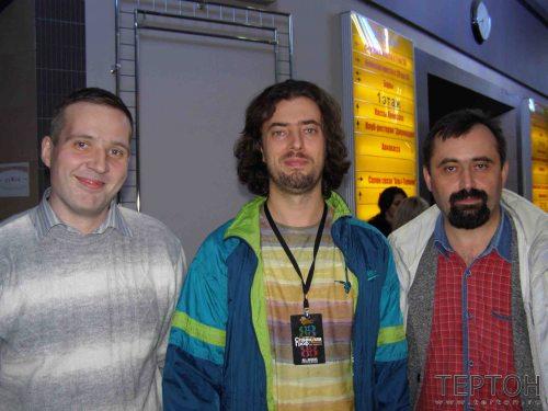 П.Ушаков, Г.Карельский и М.Господинов (президент болгарской АТПП)