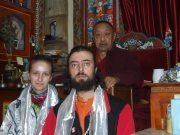 А.Гончаренко и Г.Карельский у Его Святейшества 33-го патриарха Бон Лунгтог Темпе Ньима (Менри Тридзина Ринпоче) в монастыре Менри (Гималаи, Индия)