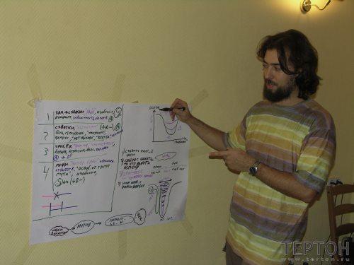 Г. Карельский читает лекцию